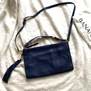Banana Republic Navy Blue Crossbody Bag